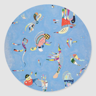 Kandinsky Sky Blue Stickers