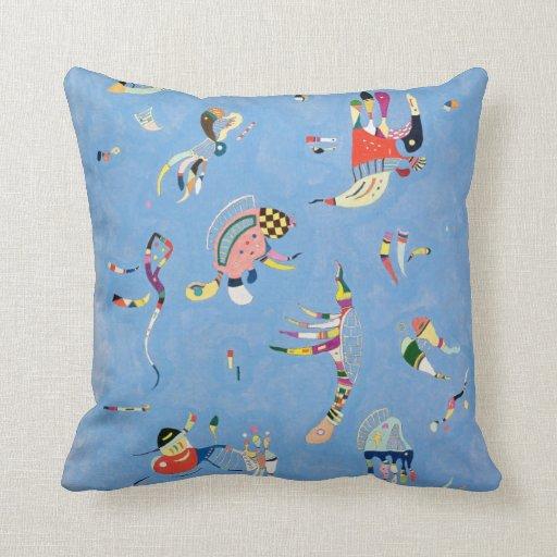 Kandinsky Sky Blue Throw Pillow Zazzle
