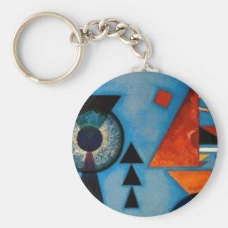 Kandinsky Soft Hard Abstract Basic Round Button Keychain