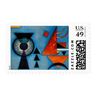 Kandinsky Soft Hard Abstract Postage Stamp