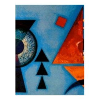 Kandinsky Soft Hard Abstract Postcard