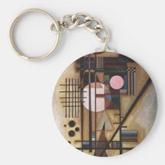 Kandinsky Softened Construction Keychain