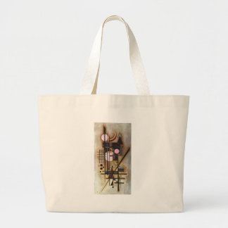 Kandinsky Softened Construction Large Tote Bag