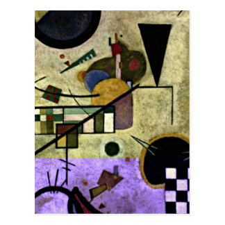 Kandinsky - sonidos que ponen en contraste postal