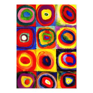 Kandinsky Squares Circles Farbstudie Quadrate Magnetic Card