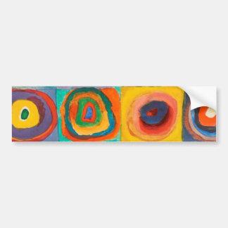 Kandinsky Squares Concentric Circles Car Bumper Sticker