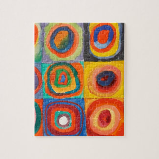 Kandinsky Squares Concentric Circles Jigsaw Puzzle