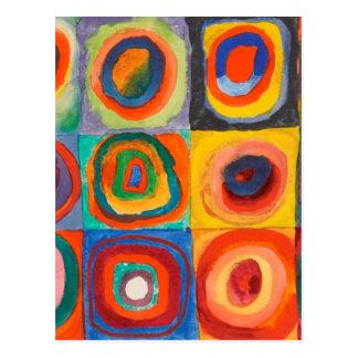 Kandinsky Squares Concentric Circles Postcard