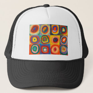 Kandinsky Squares Concentric Circles Trucker Hat