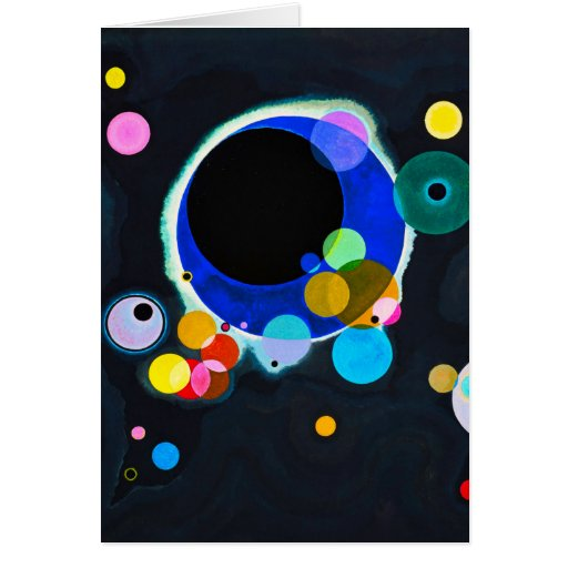Kandinsky tarjeta de nota de varios círculos