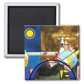 Kandinsky - The Great Gate of Kiev 2 Inch Square Magnet