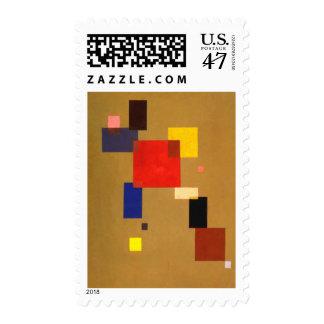 Kandinsky Thirteen Rectangles Abstract Stamp