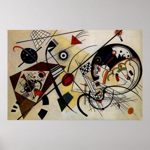 Line Art Posters : Kandinsky transverse unbroken line art poster zazzle