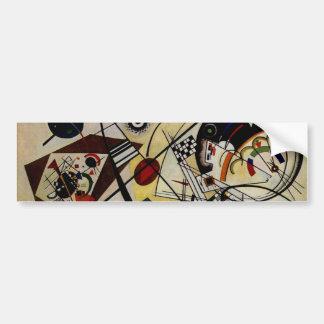 Kandinsky Transverse Unbroken Line Car Bumper Sticker