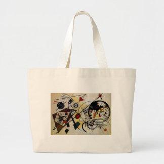 Kandinsky Transverse Unbroken Line Large Tote Bag