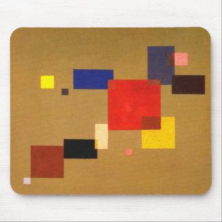 Kandinsky trece rectángulos resume la pintura alfombrilla de raton