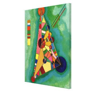 Kandinsky - triángulo multicolor impresión en lona