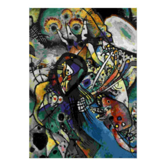 Kandinsky - Two Ovals Poster