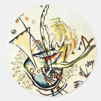 Kandinsky - Untitled, 1918 Classic Round Sticker