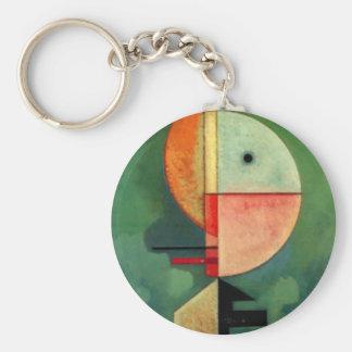 Kandinsky Upward Abstract Painting Keychain