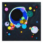 Kandinsky varias invitaciones de los círculos comunicados