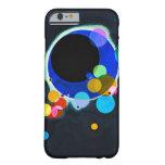 Kandinsky varios caso del iPhone 6 de los círculos Funda De iPhone 6 Barely There