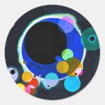 Kandinsky varios pegatinas de los círculos pegatina redonda