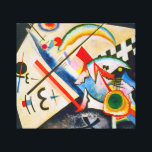 """Kandinsky White Cross Canvas Print<br><div class=""""desc"""">Kandinsky White Cross canvas wrap. Oil on canvas from 1922. Russian artist Wassily Kandinsky's White Cross represents a transition for the artist from his early expressionist phase to the tighter more form centric paintings of his abstract phase. The work features the hard lines and tight needles that would characterize Kandinsky's...</div>"""