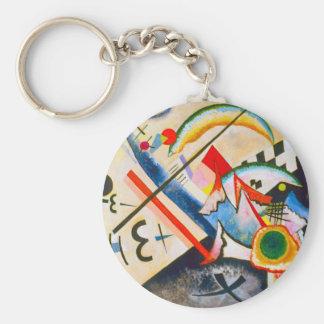 Kandinsky White Cross Key Chain