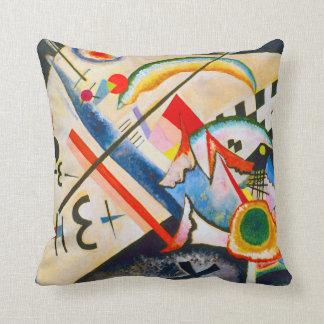 Kandinsky White Cross Throw Pillow