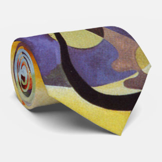 Kandinsky Yellow Red Blue Abstract Tie