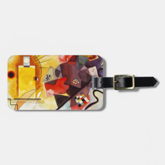 Kandinsky Yellow Red Blue Bag Tag