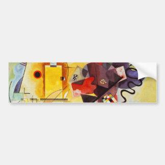 Kandinsky Yellow Red Blue Bumper Sticker