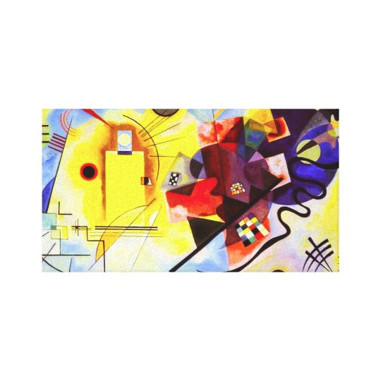Kandinsky Yellow Red Blue Canvas Wrap