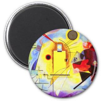 Kandinsky Yellow Red Blue Magnet