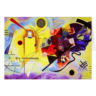 Kandinsky Yellow Red Blue Note Card