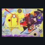 "Kandinsky Yellow Red Blue Placemat<br><div class=""desc"">Wassily Kandinsky Yellow Red Blue placemat. Oil painting on canvas from 1925. Russian artist Wassily Kandinsky progressed through multiple periods throughout his career, his abstract period is arguably his most dynamic and critically acclaimed. Yellow Red and Blue is one of his most vibrant abstract paintings, featuring the title colors red,...</div>"