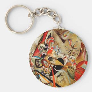 Kandinsky's Abstract Composition Basic Round Button Keychain