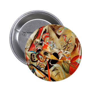 Kandinsky's Abstract Composition Pinback Button