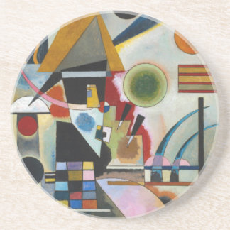 Kandinsky's Abstract Painting Swinging Drink Coaster