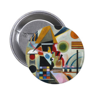Kandinsky's Abstract Painting Swinging Pinback Button