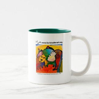 Kandinsky's Cat Two-Tone Coffee Mug
