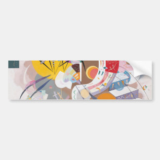 Kandinsky's Dominant Curve Abstract Bumper Sticker