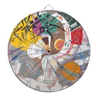 Kandinsky's Dominant Curve Abstract Dart Boards