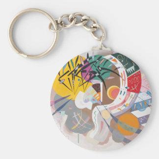 Kandinsky's Dominant Curve Abstract Keychain