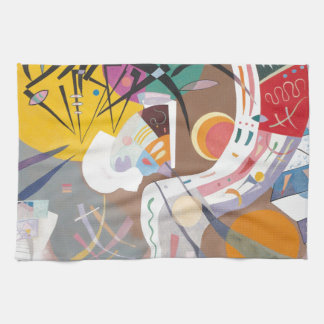 Kandinsky's Dominant Curve Abstract Kitchen Towel