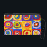 """Kandisnky Circles Wristlet<br><div class=""""desc"""">Kandinsky Circles wristlet. Oil painting on canvas. One of Russian artist Wassily Kandinsky famous circle paintings,  this version features a beautiful collection of abstract circles with vibrant oranges,  yellows,  purples,  blues and reds. A great gift for fans of Kandinsky,  abstract paintings,  and fine art.</div>"""
