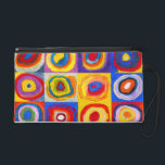 "Kandisnky Circles Wristlet<br><div class=""desc"">Kandinsky Circles wristlet. Oil painting on canvas. One of Russian artist Wassily Kandinsky famous circle paintings,  this version features a beautiful collection of abstract circles with vibrant oranges,  yellows,  purples,  blues and reds. A great gift for fans of Kandinsky,  abstract paintings,  and fine art.</div>"