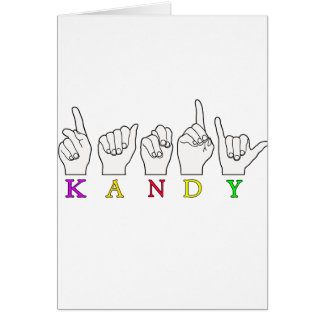 KANDY ASL FINGERSPELLED GREETING CARD