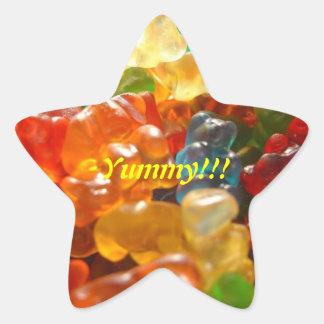 Kandy del gatito pegatina en forma de estrella